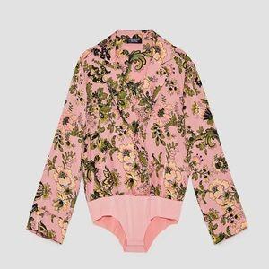 Zara printed bodysuit